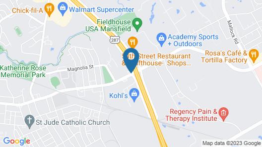 Comfort Inn & Suites Mansfield Map