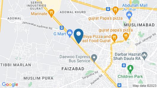 Hotel One Gujrat Map