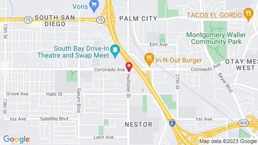 Motel 6 San Diego, CA - Southbay Map