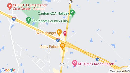 Motel 6 Canton, TX Map