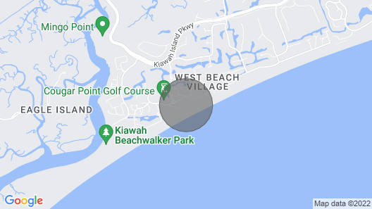 Kiawah Premier Villa Just Steps From the Beach With Resort Privileges Map