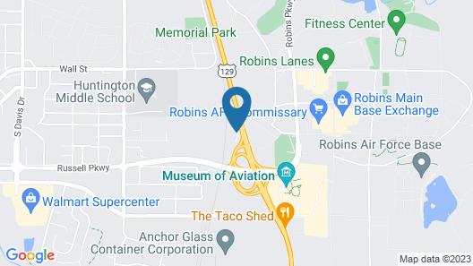 Comfort Inn & Suites - near Robins Air Force Base Main Gate Map
