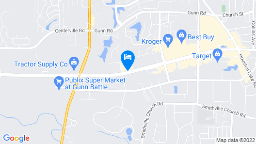 Hampton Inn Warner Robins Map