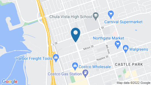 Chula Vista Inn Map