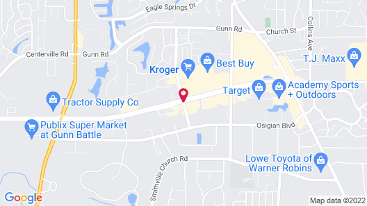 Hilton Garden Inn Warner Robins Map