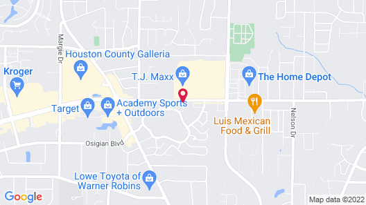 Days Inn & Suites by Wyndham Warner Robins Near Robins AFB Map
