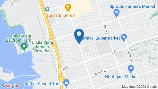 SureStay Plus Hotel by Best Western Chula Vista West Map