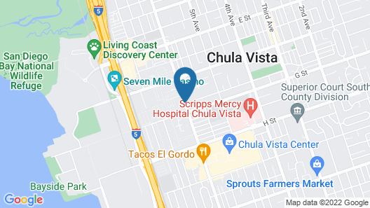 Rodeway Inn & Suites Chula Vista San Diego South Map