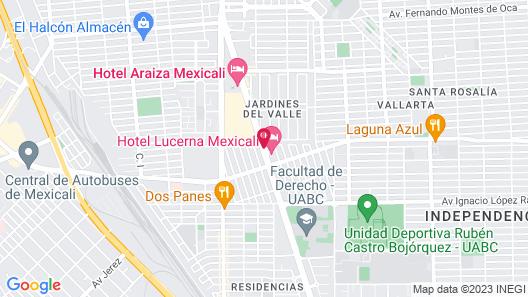 Hotel Lucerna Mexicali Map