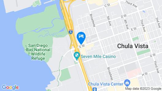 Motel 6 Chula Vista, CA - San Diego Map