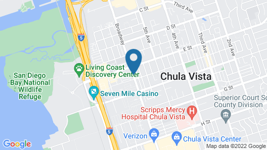 Hotel Palmeras Chula Vista Map