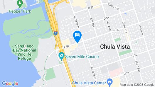 Holiday Inn Express San Diego South - Chula Vista, an IHG Hotel Map