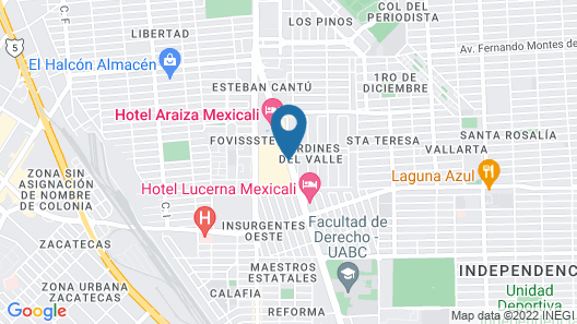 City Express Mexicali Map