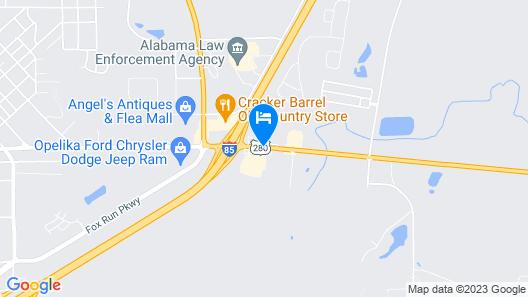 Motel 6 Opelika, AL Map