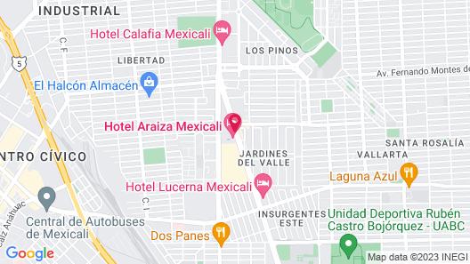 Hotel Araiza Mexicali Map