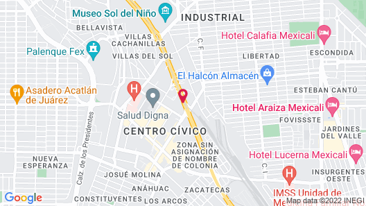 Hotel Colonial Mexicali Map