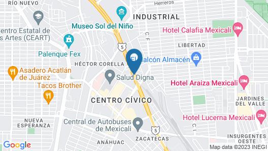 Fiesta Inn Mexicali Map