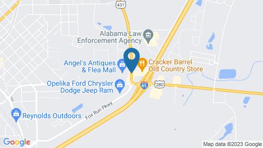 Comfort Inn Opelika - Auburn Map