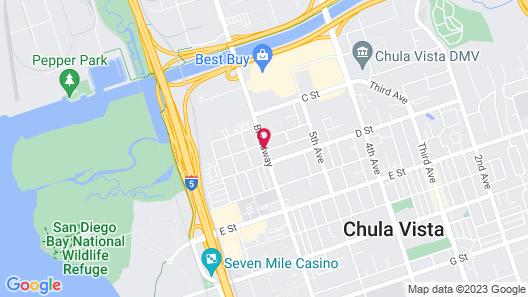 Highway Inn Chula Vista Map