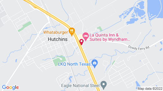 Motel 6 Hutchins, TX Map