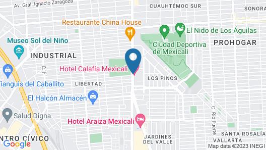 Calafia Hotel Map