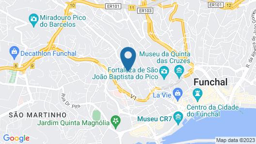 Quinta das Vistas Palace Gardens Map
