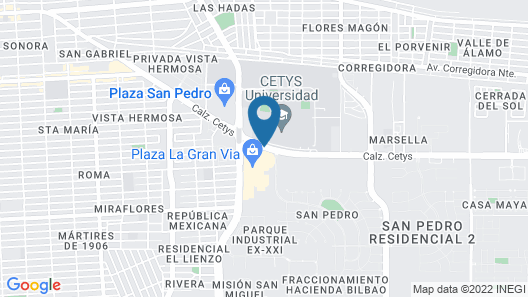 Holiday Inn Express & Suites Mexicali Map