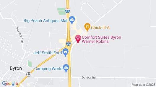 Comfort Suites Byron Warner Robins Map