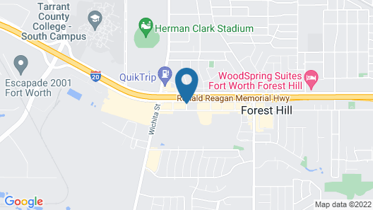 Hampton Inn and Suites Fort Worth/Forest Hill Map