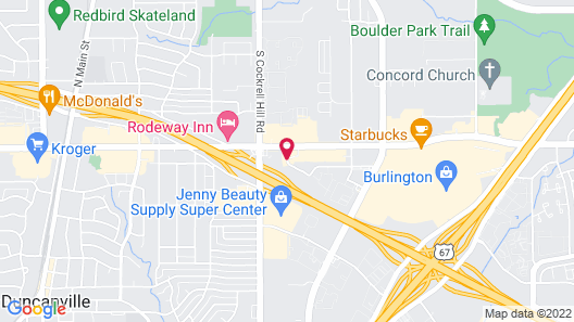 Super 7 Inn Dallas Southwest Map