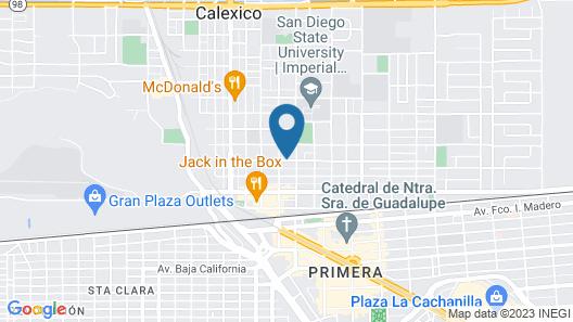 California Suites Motel Map