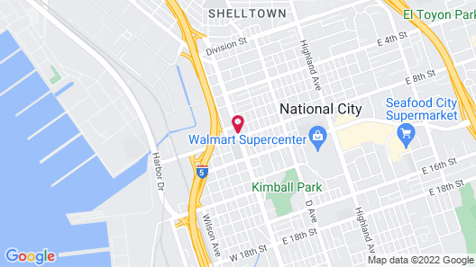 Ramada by Wyndham San Diego National City Map