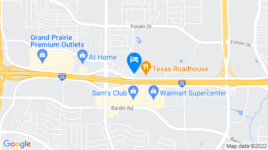 Candlewood Suites Grand Prairie - Arlington Map