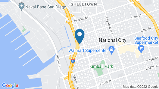 Rodeway Inn National City San Diego South Map