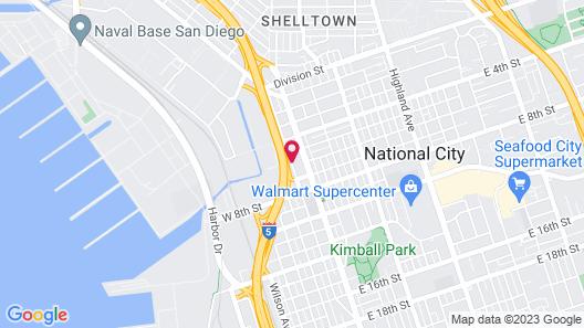 Howard Johnson by Wyndham National City/San Diego South Map