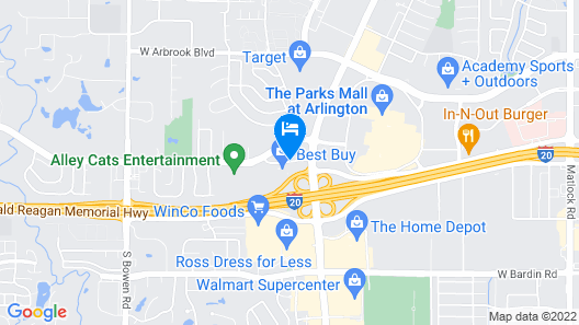 Holiday Inn Express Arlington Map