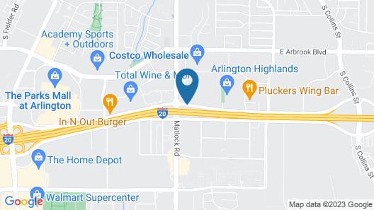 Quality Inn at Arlington Highlands Map