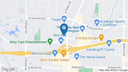 Motel 6 Arlington, TX Map