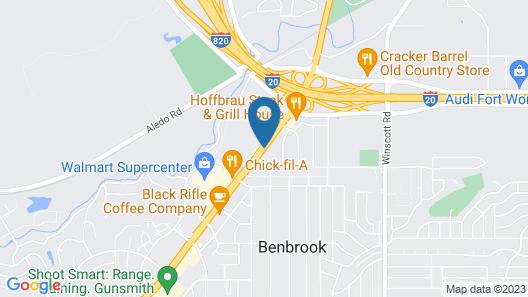 Motel 6 Benbrook, TX - Fort Worth Map