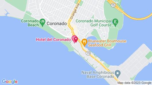 Hotel del Coronado, Curio Collection by Hilton Map