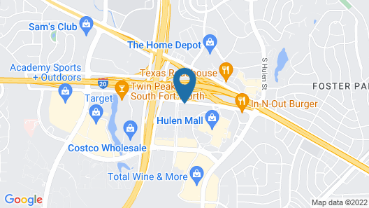 Hampton Inn Fort Worth Southwest Cityview Map
