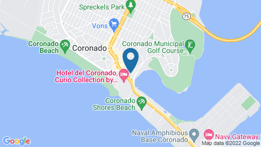Glorietta Bay Inn Coronado Island Map