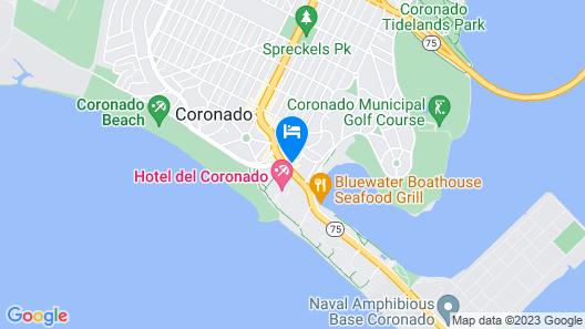 Coronado Beach Resort Map