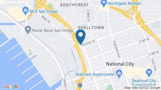 Quality Inn San Diego I-5 Naval Base Map