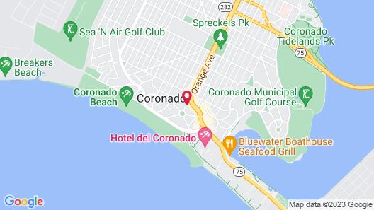 Hotel Marisol Coronado Map