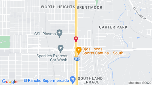 Motel 6 Fort Worth, TX - Seminary Map