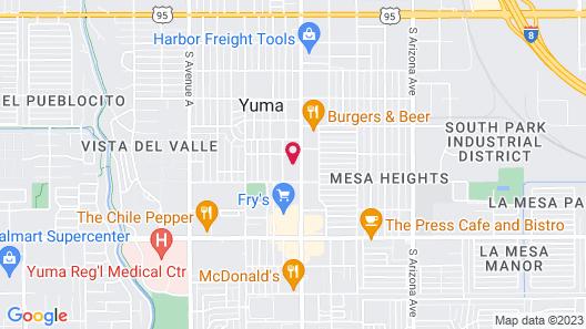 Hacienda Motel Map