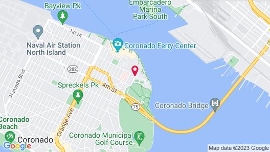 Coronado Island Marriott Resort & Spa Map