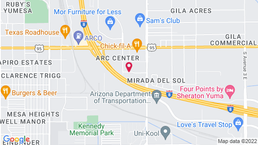 SpringHill Suites by Marriott Yuma Map