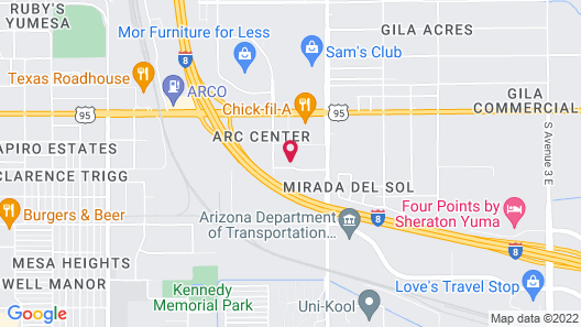 Holiday Inn Yuma Map